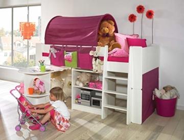 Steens For Kids Utensilo,Taschenset für Kinderbett, Hochbett, 93 x 38 x 1 cm (B/H/T), Baumwolle, Lila - 4