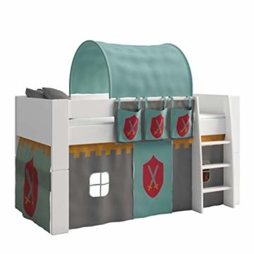 Steens For Kids Utensilo,Taschenset für Kinderbett, Hochbett, 93 x 38 x 1 cm (B/H/T), Baumwolle, grau ,blau - 4