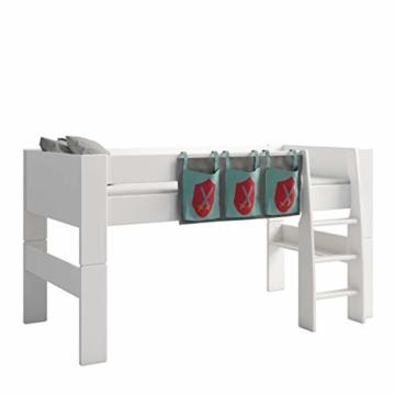 Steens For Kids Utensilo,Taschenset für Kinderbett, Hochbett, 93 x 38 x 1 cm (B/H/T), Baumwolle, grau ,blau - 1