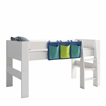 Steens For Kids Utensilo,Taschenset für Kinderbett, Hochbett, 93 x 38 x 1 cm (B/H/T), Baumwolle, blau - 1