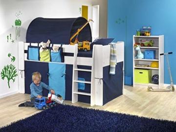 Steens For Kids Utensilo,Taschenset für Kinderbett, Hochbett, 93 x 38 x 1 cm (B/H/T), Baumwolle, blau - 2