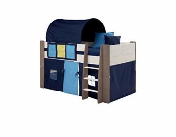 Steens For Kids Utensilo,Taschenset für Kinderbett, Hochbett, 93 x 38 x 1 cm (B/H/T), Baumwolle, blau - 3