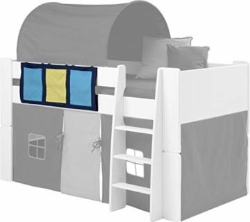 Steens For Kids Utensilo,Taschenset für Kinderbett, Hochbett, 93 x 38 x 1 cm (B/H/T), Baumwolle, blau - 4