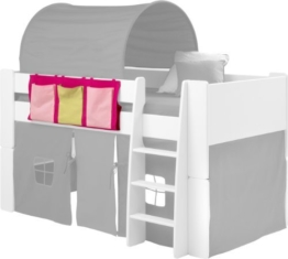 Steens Kids Side Hanger for Mid Sleeper Bed with 3 Pockets, Pink by Steens - 1