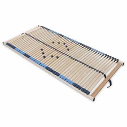 SUPERFLEX NV-MZV 7-Zonen-Montagerost, 42 stabile Federholzleisten mit durchgehenden Holmen Größe 90x200 - 1