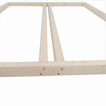 TUGA - Holztech Naturholzrahmen für Rollroste passend für alle Betten ohne Auflagerleisten geeignet inkl Schrauben, ideal auch als tiefes Bettgestell zu verwenden - 2