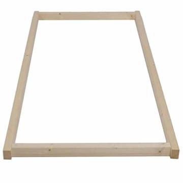 TUGA - Holztech Naturholzrahmen für Rollroste passend für alle Betten ohne Auflagerleisten geeignet inkl Schrauben, ideal auch als tiefes Bettgestell zu verwenden - 3