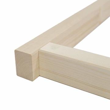 TUGA - Holztech Naturholzrahmen für Rollroste passend für alle Betten ohne Auflagerleisten geeignet inkl Schrauben, ideal auch als tiefes Bettgestell zu verwenden - 4