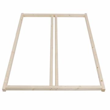 TUGA - Holztech Naturholzrahmen für Rollroste passend für alle Betten ohne Auflagerleisten geeignet inkl Schrauben, ideal auch als tiefes Bettgestell zu verwenden - 1