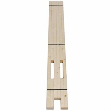 TUGA - Holztech Naturholzrahmen für Rollroste passend für alle Betten ohne Auflagerleisten geeignet inkl Schrauben, ideal auch als tiefes Bettgestell zu verwenden - 5