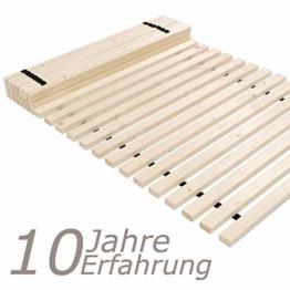 TUGA - Holztech unbehandeltes einlegefertiges reines Naturprodukt FSC - Holz 28 LEISTEN 250Kg Flächenlast in der Größe 140 x 200 cm ROLLROST Lattenrost Qualitätsarbeit gefertigt in Deutschland inkl Befestigungskit mit 5 Jahren Garantie - 1