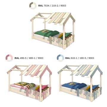 WICKEY Kinderbett 'CrAzY Beach' - Bodentiefes Spielbett - Einzelbett - 90x200 cm - 4