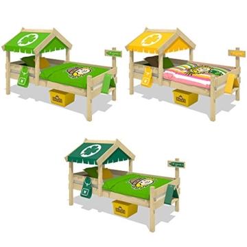 WICKEY Kinderbett CrAzY Buddy Einzelbett 90x200 Abenteuerbett mit Dach und Lattenboden, apfelgrün - 5