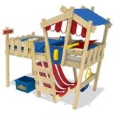 WICKEY Kinderbett 'CrAzY Hutty' - Hochbett - Spielbett - 90x200 cm - 1