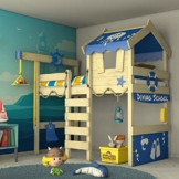 WICKEY Kinderbett 'CrAzY Jelly' - Hochbett - Spielbett - 90x200 cm - 1