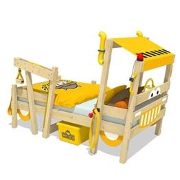 WICKEY Kinderbett 'CrAzY Sparky Max' im Bagger-Look - Einzelbett aus Massivholz - 90x200 cm - 1