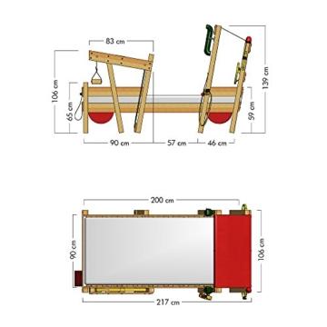 WICKEY Kinderbett 'CrAzY Sparky Max' im Bagger-Look - Einzelbett aus Massivholz - 90x200 cm - 6