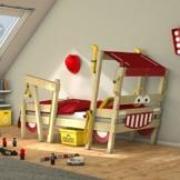 WICKEY Kinderbett 'CrAzY Sparky Max' im Feuerwehr-Look - Einzelbett aus Massivholz - 90x200 cm - 1