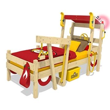 WICKEY Kinderbett 'CrAzY Sparky Max' im Polizei-Look - Einzelbett aus Massivholz - 90x200 cm - 2
