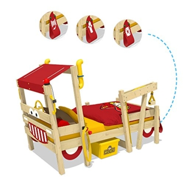 WICKEY Kinderbett 'CrAzY Sparky Max' im Polizei-Look - Einzelbett aus Massivholz - 90x200 cm - 3
