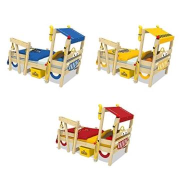WICKEY Kinderbett 'CrAzY Sparky Max' im Polizei-Look - Einzelbett aus Massivholz - 90x200 cm - 4