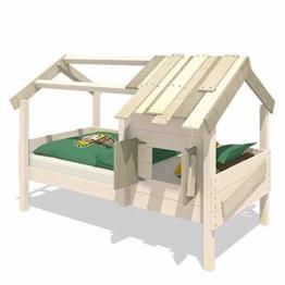 WICKEY Kinderbett 'CrAzY Sunrise' - Spielbett aus Massivholz - Einzelbett - 90x200 cm - 1