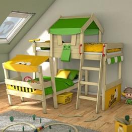 WICKEY Kinderbett 'CrAzY Trunky' - Etagenbett im Safari-Look - Spielbett – 90x200 cm - 1