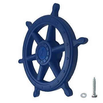 WICKEY Lenker Schiff Schiffslenker Schiffslenkrad Steuerrad für Spielturm, Ø35cm, blau - 1