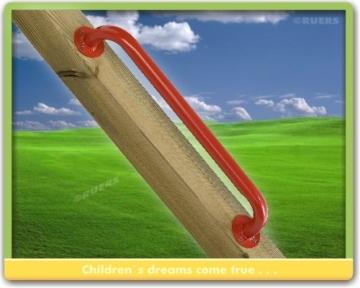 WICKEY Premium Handgriff Metall 110cm, entspricht EN 1176, rot - 2