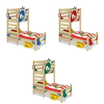 WICKEY Spielbett CrAzY Octopus Kinderbett 90x200 Einzelbett aus Holz mit Spielpodest für Jungen und Mädchen mit Lattenboden, grün - 4