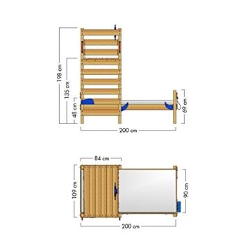 WICKEY Spielbett CrAzY Octopus Kinderbett 90x200 Einzelbett aus Holz mit Spielpodest für Jungen und Mädchen mit Lattenboden, grün - 6