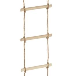 WICKEY Strickleiter leicht, 4 Sprossen, Seilleiter, Länge 145cm - 1