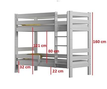 WNM Group Kinderbett, Sophie Etagenbett mit Zwei Lattenroste - 3