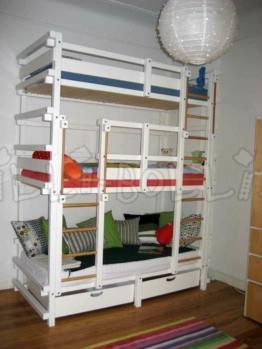 Wolkenkratzer-Etagenbett für Kinder (Billi-Bolli) | Kinderbett, Stockbett