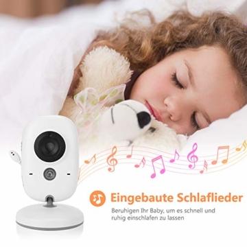 Yissvic Babyphone 2.4GHz mit Kamera Wireless Video Baby Monitor Nachtsicht Gegensprechfunktion Temperatursensor 2.0 Zoll LCD (Verpackung MEHRWEG) - 2