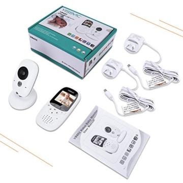 Yissvic Babyphone 2.4GHz mit Kamera Wireless Video Baby Monitor Nachtsicht Gegensprechfunktion Temperatursensor 2.0 Zoll LCD (Verpackung MEHRWEG) - 8
