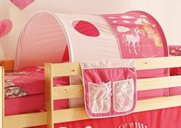 AVANTI TRENDSTORE - Tunnel und Tasche für Hochbett in verschiedenen Motiven (Prinzessin (rosa/pink)) - 1