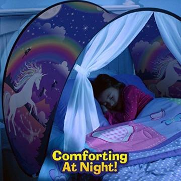 Bettzelt,Einhorn Traumzelt, Drinnen Kinder, Kid's Fantasy, Kinder Schlafzimmer Dekoration,Geschenke für Kinder - 4
