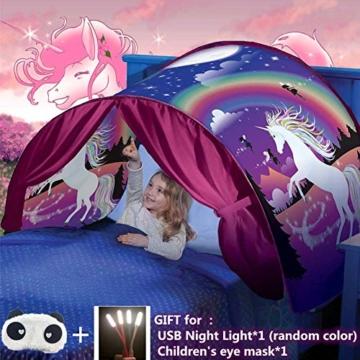 Bettzelt,Einhorn Traumzelt, Drinnen Kinder, Kid's Fantasy, Kinder Schlafzimmer Dekoration,Geschenke für Kinder - 1