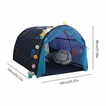 Currentiz Kinder Tunnel für Hochbett Bett Zelt Spielbett Breite Spielbett Etagenbett Schlafzimmer Dekoration Für Kinder - 7