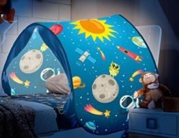Dynamic24 Magic Dreams Universum Weltall Pop Up Tunnel Zelt Spieltunnel Höhle für Hochbett Kinderbett Bogen Bettzelt Bettdach blau - 1