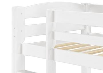 Erst-Holz® Etagenbett Kiefer waschweiß 90x200 mit Rollrost Bettkasten Kinderstockbett Hohes Bett 60.10-09WS7 - 5