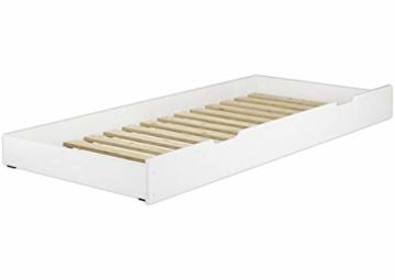 Erst-Holz® Etagenbett Kiefer waschweiß 90x200 mit Rollrost Bettkasten Kinderstockbett Hohes Bett 60.10-09WS7 - 7
