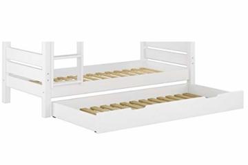 Erst-Holz® Etagenbett Kiefer waschweiß 90x200 mit Rollrost Bettkasten Kinderstockbett Hohes Bett 60.10-09WS7 - 8