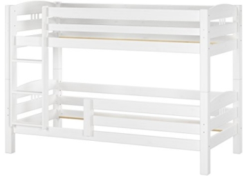 Erst-Holz® Etagenbett Kiefer waschweiß 90x200 mit Rollrost Bettkasten Kinderstockbett Hohes Bett 60.10-09WS7 - 9