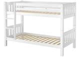 Erst-Holz® Schönes Kinderstockbett Kiefer Massivholz weiß 90x200cm Kinderzimmer Etagenbett Rollrost 60.06-09W - 1