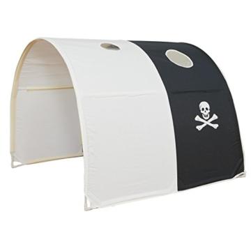 Homestyle4u 1439, Kinder Tunnel Für Hochbett, Pirat, Schwarz Weiß, Baumwolle, 90 cm Breit - 1