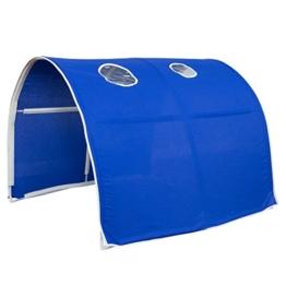 Homestyle4u 1441, Kinder Tunnel Für Hochbett, Blau, Baumwolle, 90 cm Breit - 1