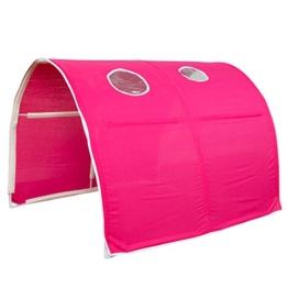 Homestyle4u 1442, Kinder Tunnel Für Hochbett, Pink, Baumwolle, 90 cm Breit - 1