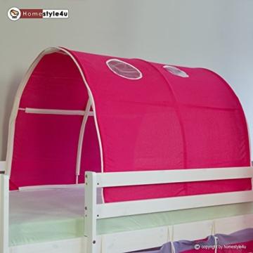 Homestyle4u 1442, Kinder Tunnel Für Hochbett, Pink, Baumwolle, 90 cm Breit - 4